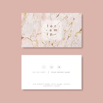 Cartão de visita texturizado de mármore