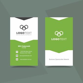 Cartão de visita verde profissional e design de papel timbrado
