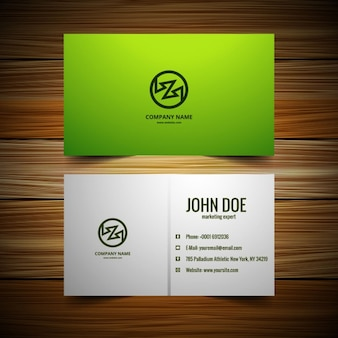 Cartão de visita verde