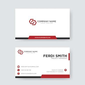 Cartão de visita vermelho profissional