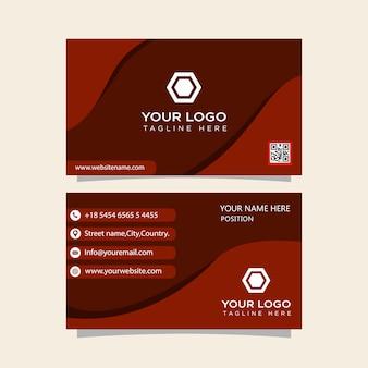 Cartão de visita vermelho pronto para imprimir