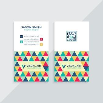 Cartão de visita vertical colorido
