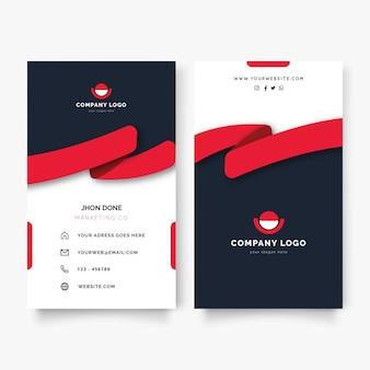 Cartão de visita vertical criativo com moderno