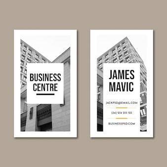 Cartão de visita vertical de negócios em geral