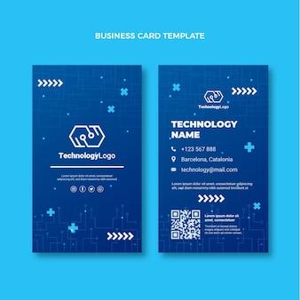 Cartão de visita vertical de tecnologia mínima