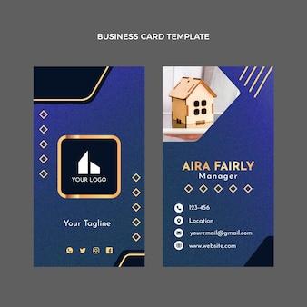 Cartão de visita vertical de textura de gradiente