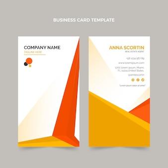 Cartão de visita vertical geométrico de imóveis