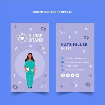 Cartão de visita vertical médico plano