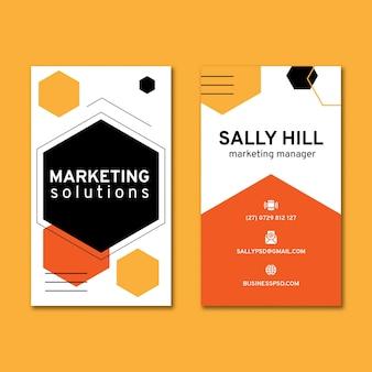 Cartão de visita vertical para negócios em geral