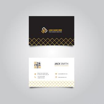 Cartão de visita weby dourado