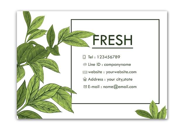 Cartão de visitas. desenhos de folha de peônia. bela linha artística. ilustrações botânicas.