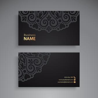 Cartão de visitas. elementos decorativos vintage. cartões de visita florais ornamentais ou convite