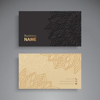 Cartão de visitas. elementos decorativos vintage. cartões de visita ou convite de ornamentall com
