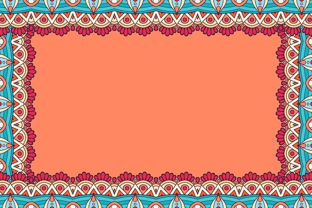 Cartão de visitas. elementos decorativos vintage. cartões florais ornamentais, padrão oriental, ilustração vetorial