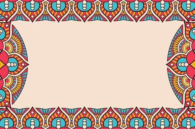 Cartão de visitas. elementos decorativos vintage. cartões florais ornamentais, padrão oriental, ilustração
