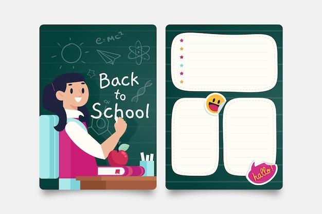 Cartão de volta às aulas
