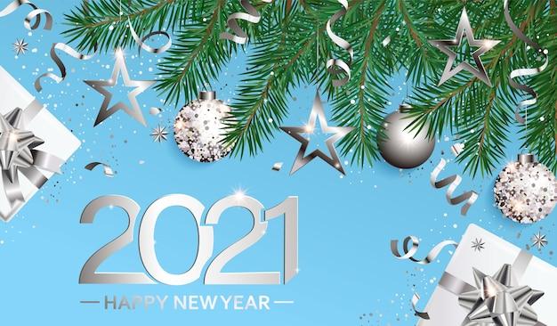 Cartão de votos de feliz ano novo na nova temporada