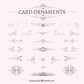 Cartão decoração ornamental