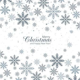 Cartão decorativo abstrato dos flocos de neve