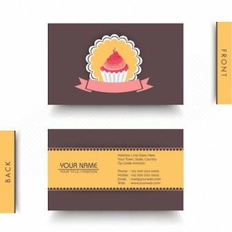 Cartão decorativo para padaria