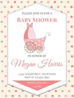 Cartão delicado do chuveiro do bebé