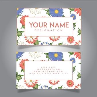 Cartão desenhado à mão da flor colorida da aguarela desenhada mão