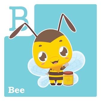 Cartão do alfabeto com letra b