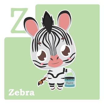 Cartão do alfabeto com letra z
