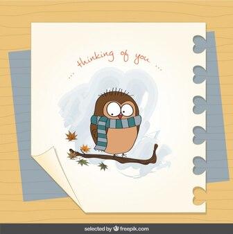 Cartão do amor com pássaro louco