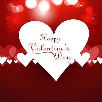 Cartão do amor do vermelho brilhante