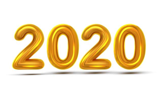Cartão do ano 2020 novo