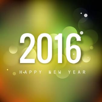Cartão do ano novo bokeh