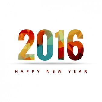 Cartão do ano novo feliz geométrica