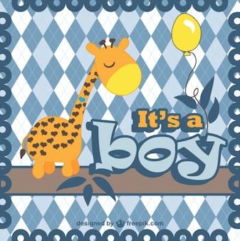 Cartão do anúncio do bebê