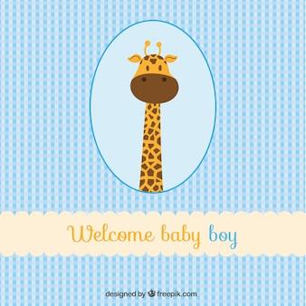 Cartão do bebé bem-vindo