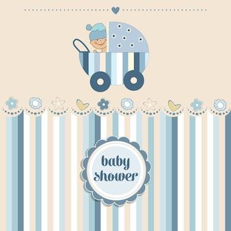 Cartão do chuveiro do bebé