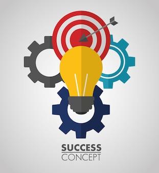 Cartão do conceito de sucesso