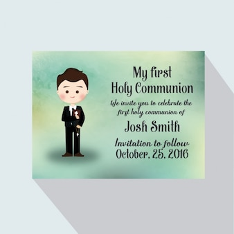 Cartão do convite da primeira comunhão