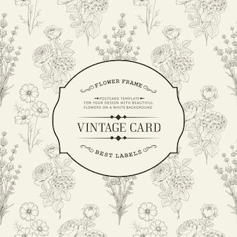 Cartão do convite vintage.