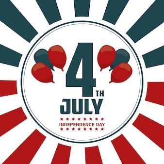 Cartão do dia da independência do 4 de julho