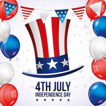 Cartão do dia da independência