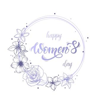 Cartão do dia da mulher feliz