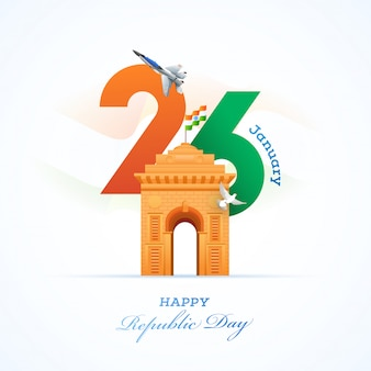 Cartão do dia da república da índia