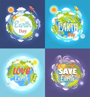 Cartão do dia da terra