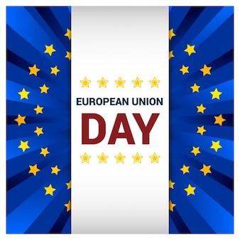 Cartão do dia da união europeia cumprimentar