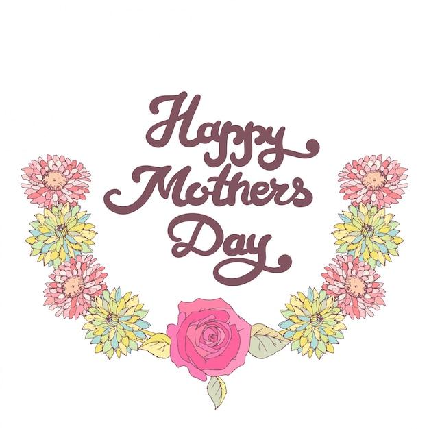 Cartão do dia das mães. feliz dia das mães.