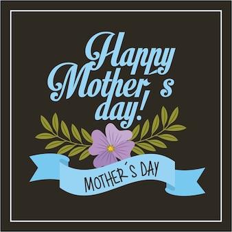 Cartão do dia das mães feliz