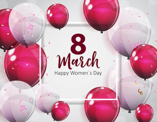 Cartão do dia das mulheres 8 de março