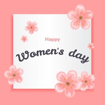 Cartão do dia das mulheres felizes