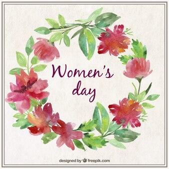 Cartão do dia das mulheres watercolor